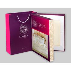 Комплект постельного белья Ecotex 1,5 сп, сатин-жаккард, Флокатти (КЭ1Флокатти)