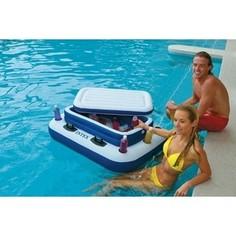 Плавающий холодильник Intex 122х97 см River Runs с подстаканниками 58821