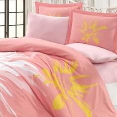 Комплект постельного белья Hobby home collection Евро, поплин, Romana персиковый (1501001849)
