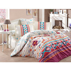 Комплект постельного белья Hobby home collection Евро, поплин, Francesca бордовый (1501001592)