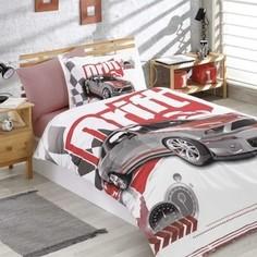 Комплект постельного белья Hobby home collection 1,5 сп, поплин, Drift бордовый (1501001751)