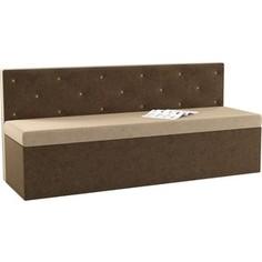 Кухонный диван АртМебель Салвадор микровельвет бежево-коричневый