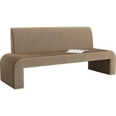Кухонный диван АртМебель Кармен микровельвет коричнево-бежевый