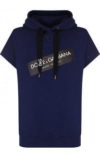 Хлопковое худи с короткими рукавами Dolce & Gabbana
