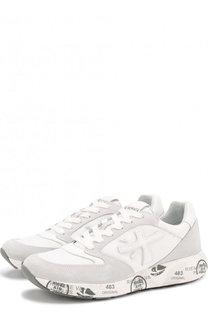 Комбинированные кроссовки Zac на шнуровке Premiata