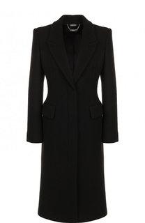 Приталенное пальто из смеси шести и кашемира Alexander McQueen