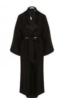 Однотонное шелковое пальто с поясом Racil