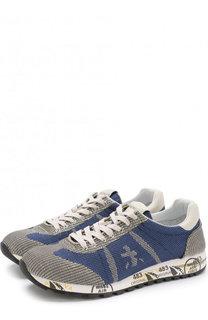Текстильные кроссовки на шнуровке Premiata