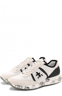 Комбинированные кроссовки Hanzo на шнуровке Premiata