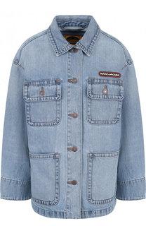 Джинсовая куртка свободного кроя с потертостями Marc Jacobs