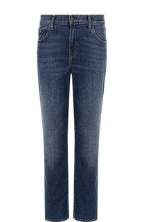 Укороченные джинсы прямого кроя с потертостями J Brand
