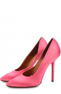 Атласные туфли на шпильке Vetements