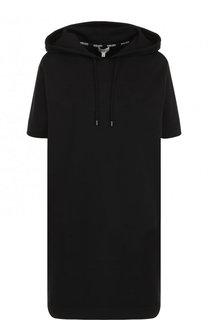 Хлопковое мини-платье с капюшоном Kenzo