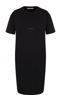 Однотонная хлопковое платье-футболка Acne Studios