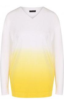 Пуловер из вискозы с эффектом деграде Escada