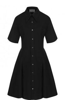 Однотонное платье-рубашка из хлопка Acne Studios