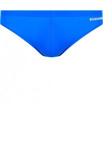 Плавки с логотипом бренда Dsquared2