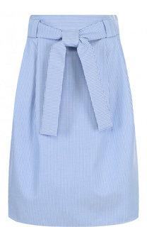 Хлопковая мини-юбка с поясом Windsor