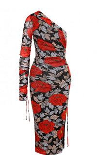 Платье-миди асимметричного кроя с принтом Diane Von Furstenberg