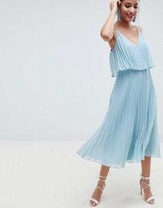 Платье миди с кроп-топ ASOS DESIGN - Зеленый