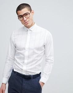 Узкая строгая рубашка с в полоску Selected Homme - Белый