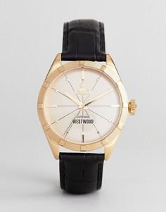 Часы с черным кожаным ремешком Vivienne Westwood VV195GDBK Conduit - Черный