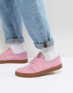 Розовые кроссовки с резиновой подошвой Nike SB Stefan Janoski 333824-604 - Розовый