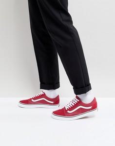 Красные кроссовки Vans Old Skool VA38G1Q9U - Красный