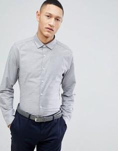 Серая строгая оксфордская рубашка узкого кроя ASOS DESIGN - Серый