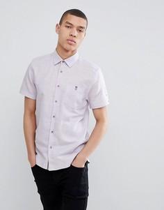 Облегающая рубашка сиреневого цвета с короткими рукавами Ted Baker - Фиолетовый