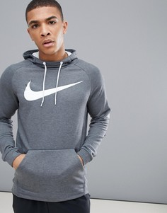 Темно-серый худи с логотипом-галочкой Nike Training Dry 885818-071 - Серый