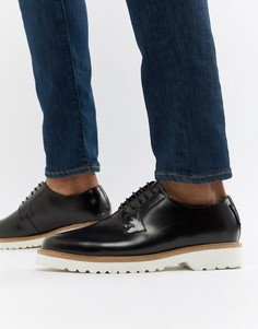 Черные блестящие туфли на шнуровке Ben Sherman - Черный
