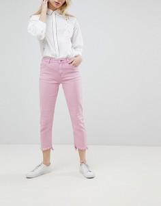 Джинсы прямого кроя с необработанным краем Only - Розовый