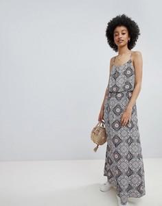 Платье макси с мозаичным принтом Only - Мульти