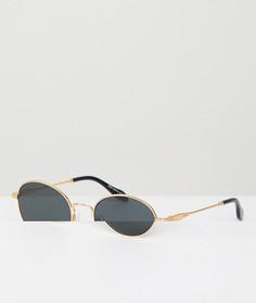 Круглые солнцезащитные очки с золотистой и черной отделкой Sonix - Золотой