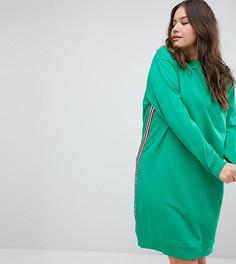 Трикотажное платье миди эксклюзивно для ASOS DESIGN Curve - Зеленый