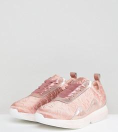 Атласные розовые кроссовки Free People - Розовый