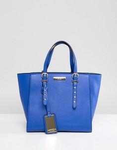 Небольшая сумка-тоут с заклепками Carvela - Синий