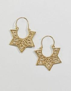 Серьги-кольца с вырезами ASOS DESIGN - Золотой