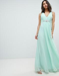 Платье макси с декоративной отделкой City Goddess Wedding - Зеленый