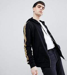 Черная спортивная куртка с золотистыми полосками Sixth June эксклюзивно для ASOS - Черный