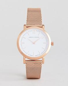 Часы цвета розового золота Larsson & Jennings Lugano 33 мм - Золотой
