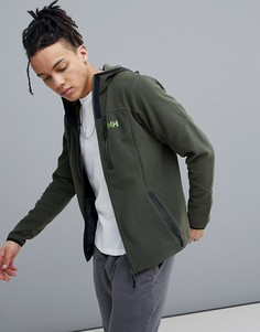 Флисовая куртка цвета хаки с капюшоном Helly Hansen Vanir - Зеленый