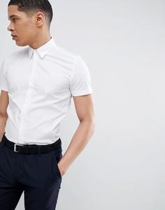 Белая эластичная рубашка с короткими рукавами Antony Morato - Белый