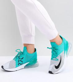Кроссовки Nike Air Max 270 Flyknit - Зеленый