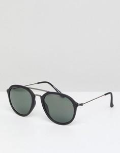Круглые темно-синие солнцезащитные очки Jack & Jones - Темно-синий