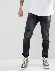 Рваные джинсы скинни Le Breve - Черный