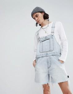 Джинсовый комбинезон с шортами Cheap Monday - Синий