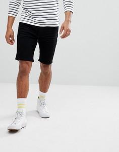 Черные джинсовые шорты узкого кроя Solid - Черный !Solid