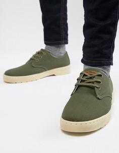 Зеленые ботинки с 3 парами люверсов Dr Martens Delray - Зеленый